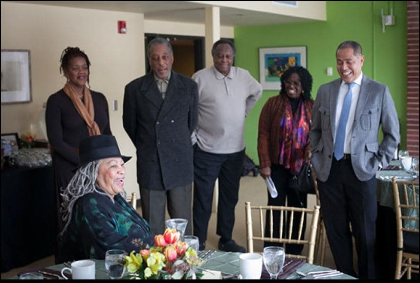 Toni Morrison with Africana Faculty